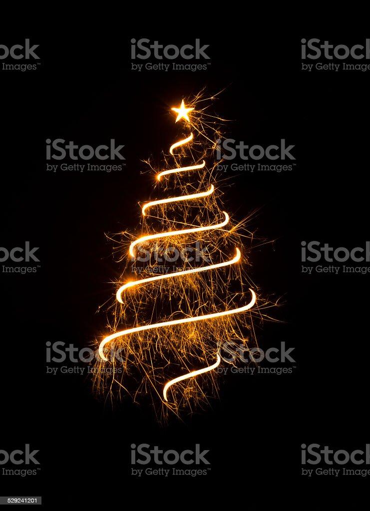 Simbolo astratto albero di Natale - foto stock