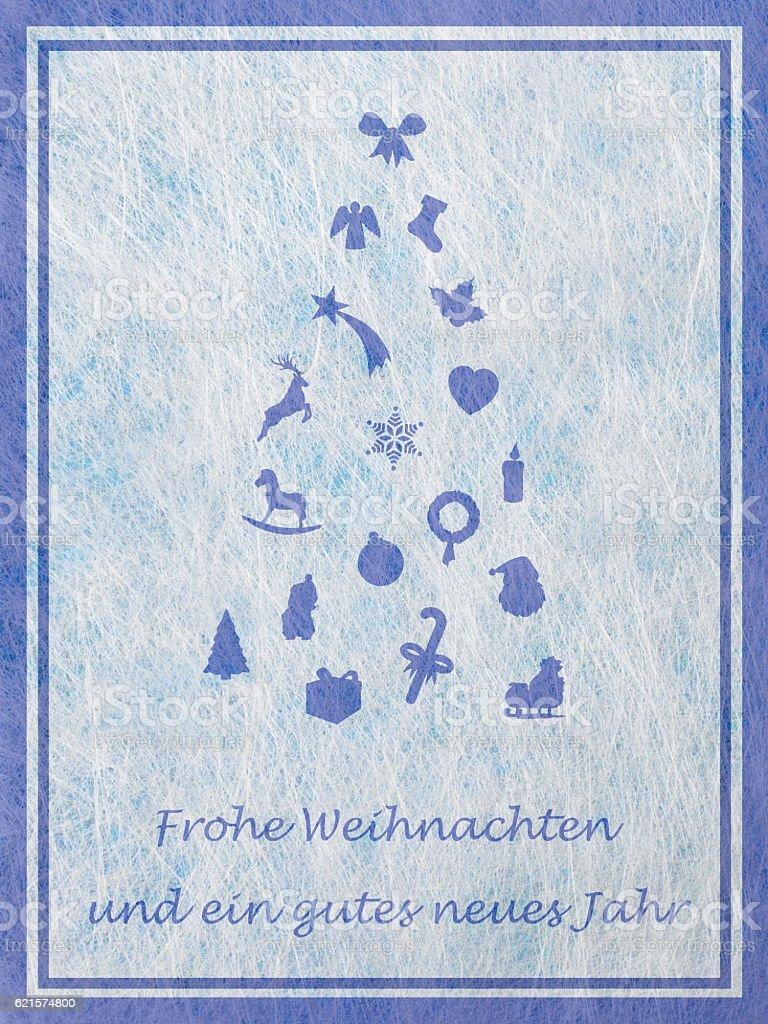 Abstract christmas tree with various christmas motifs, christmas card photo libre de droits