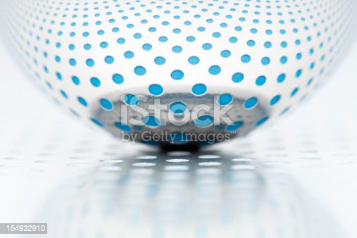 istock Abstract chrome sphere white 154932910
