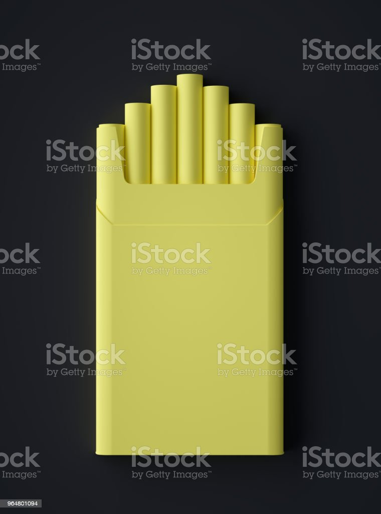 Abstract Cigarette Pack Symbol stock photo