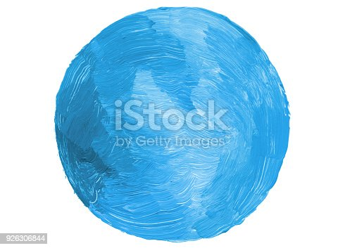 istock Abstract circle acrylic and watercolor painted background. Isolated. 926306844