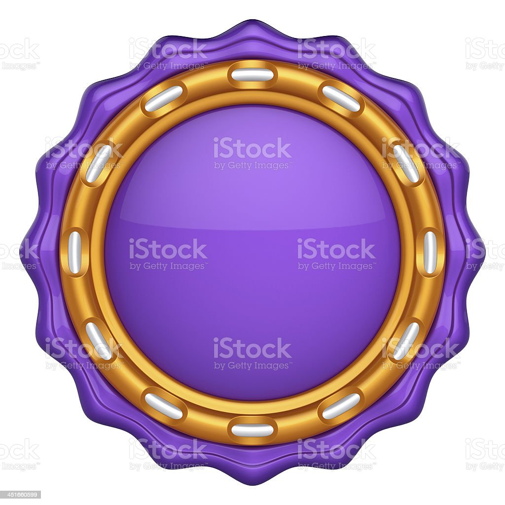 Abstract circle label for your logo stock photo