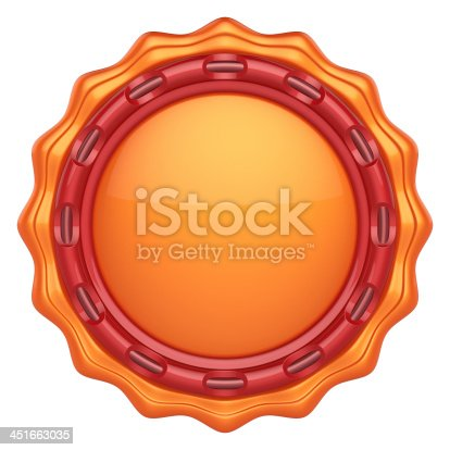 1125351850 istock photo Abstract circle label for your logo 451663035