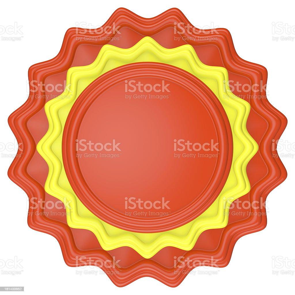 Abstract circle label. royalty-free stock photo