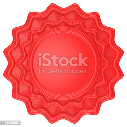 1125351850 istock photo Abstract circle label with red color. 181686987