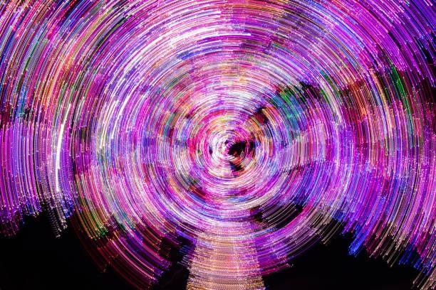 Abstrakte Kreismuster der Weihnachtsbeleuchtung – Foto