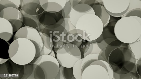 687269072 istock photo 3D Abstract Circle Shape Pattern Background 1221962779