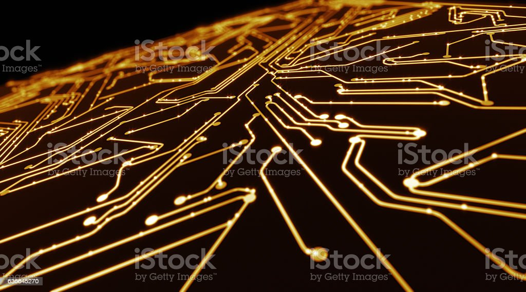 Abstract circuit board stock photo