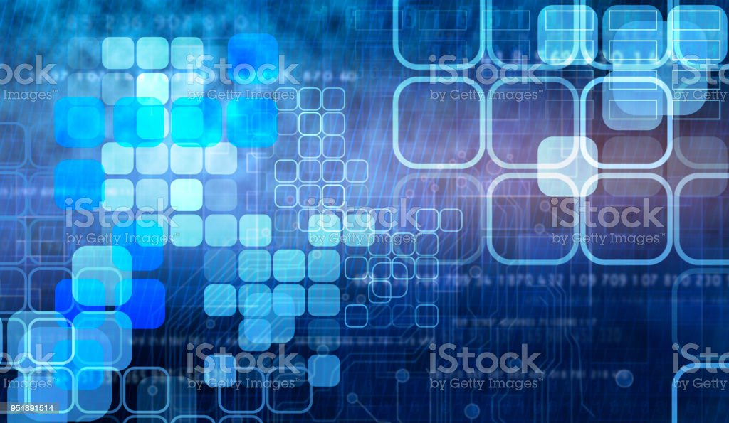 Abstract circuit future technology background, stock photo