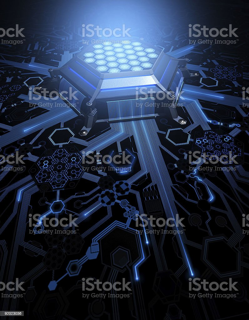 Abstract Circuit Hexagonal Form royalty-free stock photo
