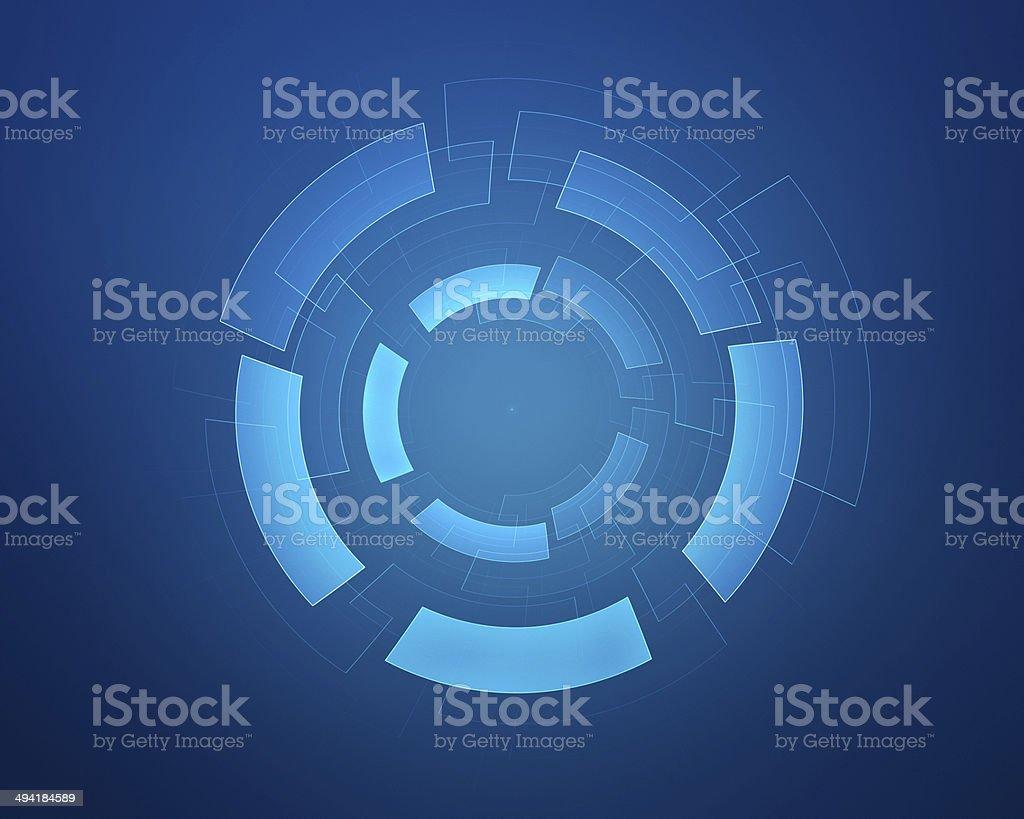 Abstract circular background stock photo