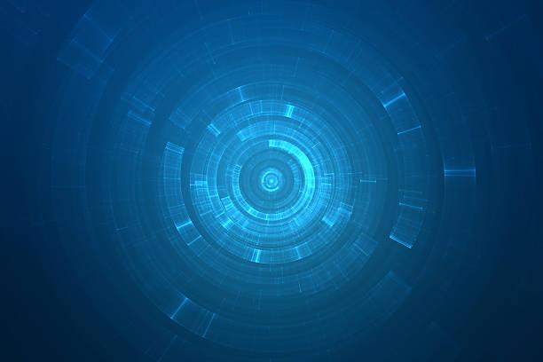 abstract circular background with blue color - teleport bildbanksfoton och bilder