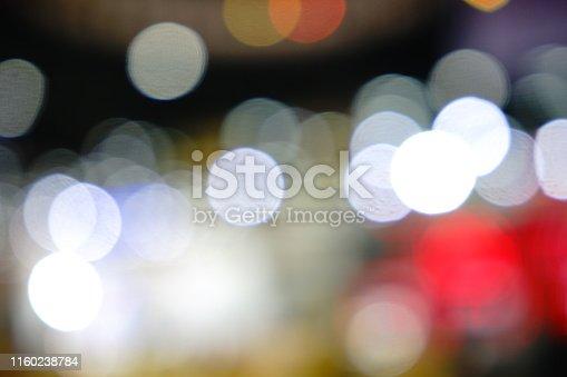 istock Abstract circular bokeh background of night light 1160238784