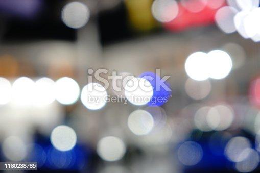 istock Abstract circular bokeh background of night light 1160238785