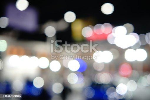 istock Abstract circular bokeh background of night light 1160238806