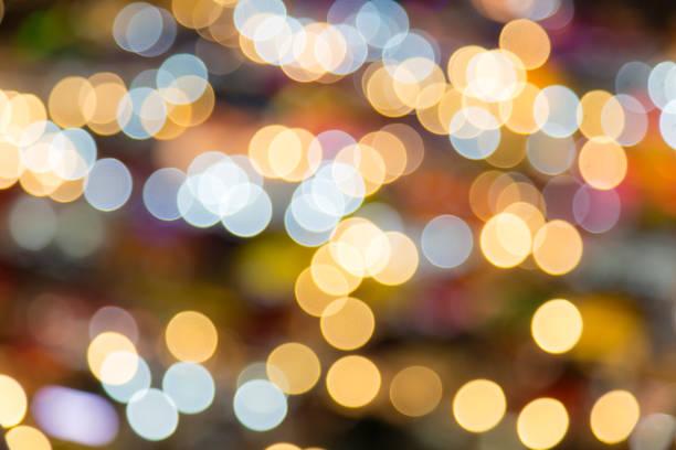 abstrakt kreis bokeh hintergrund mit nachtlicht - veranstaltungsraum stock-fotos und bilder