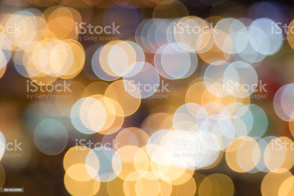 Abstract circular bokeh background of night light stock photo