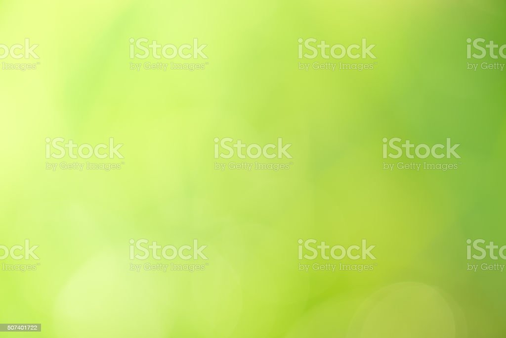 Abstract circular green bokeh background. stock photo