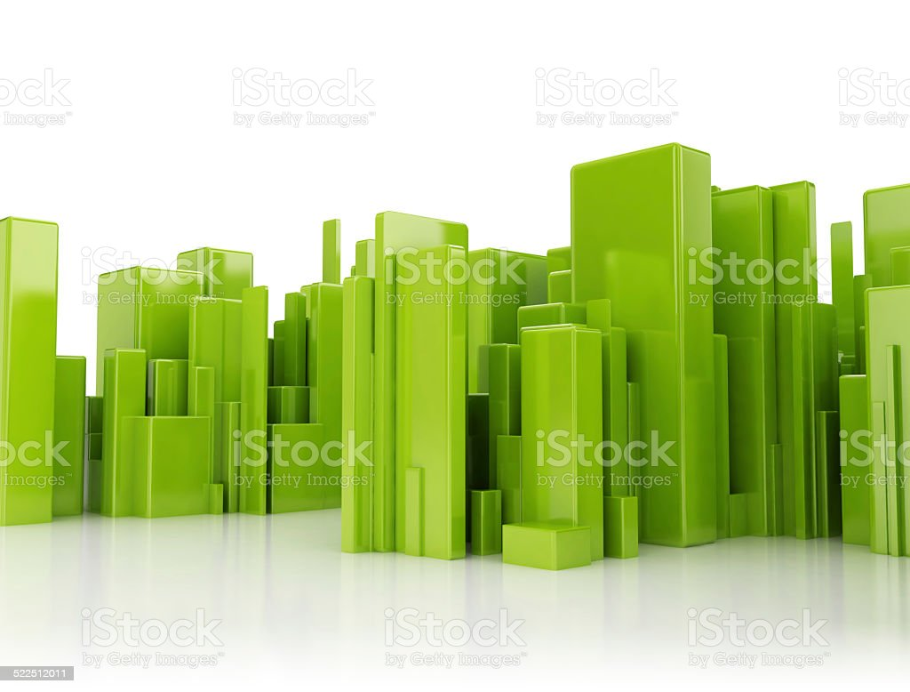Abstract city 3d cubes stock photo