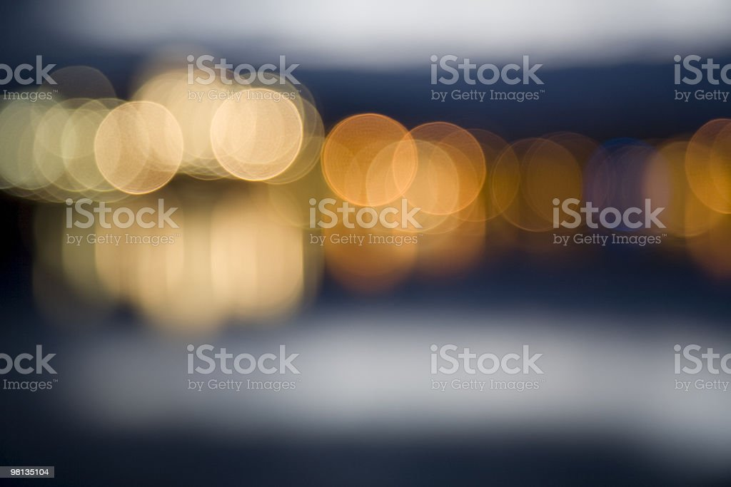 Abstract city lights at night royalty-free stock photo