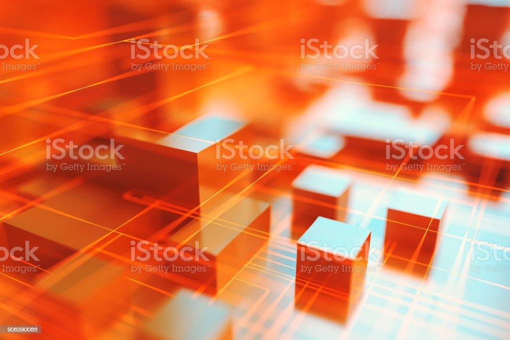Ciudad abstracta fondo de líneas - foto de stock