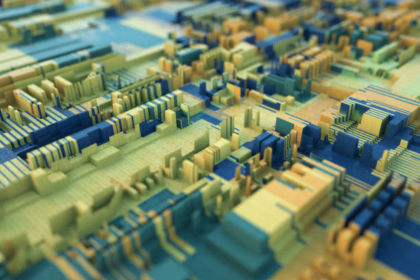 3d abstrait ville - Photo