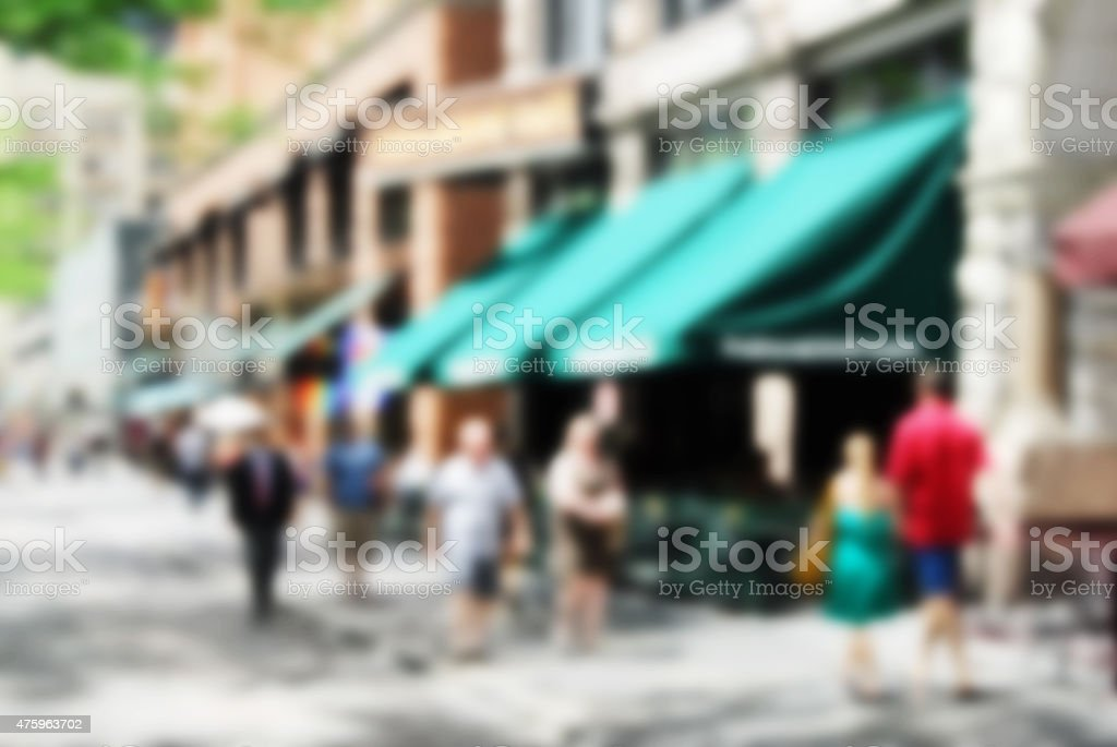 Abstract city sidewalk stock photo