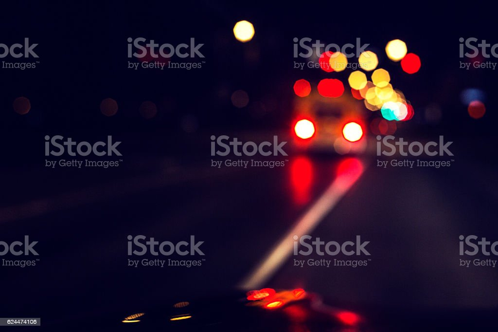 Abstract City Street Ambulance Lights stock photo