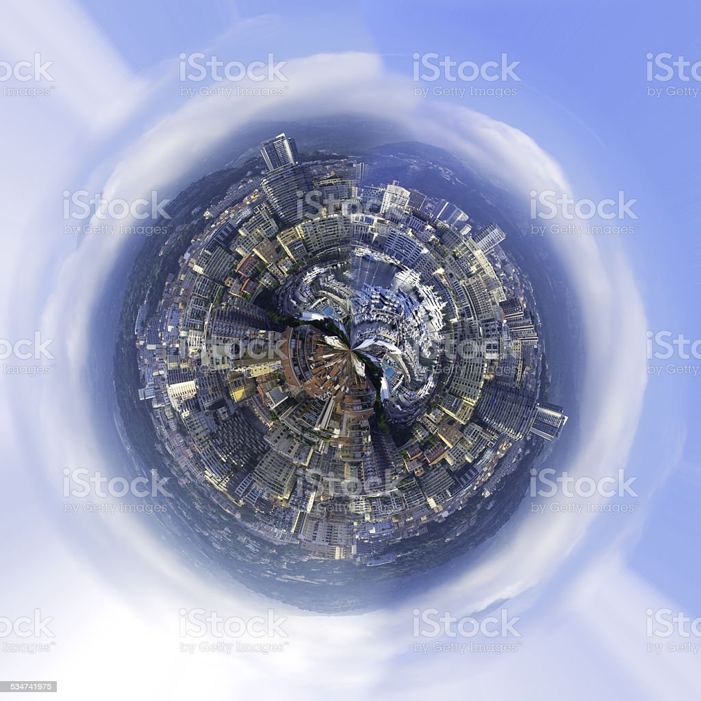 Abstract city world. Color image stock photo
