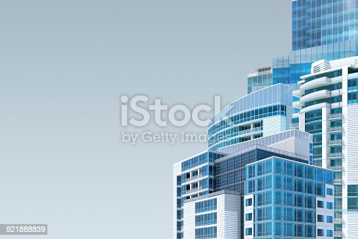 istock Abstract cityscape background with copy space 521888839