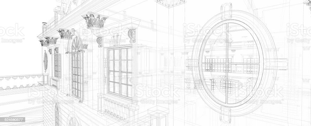 Abstract classical architecture stock photo
