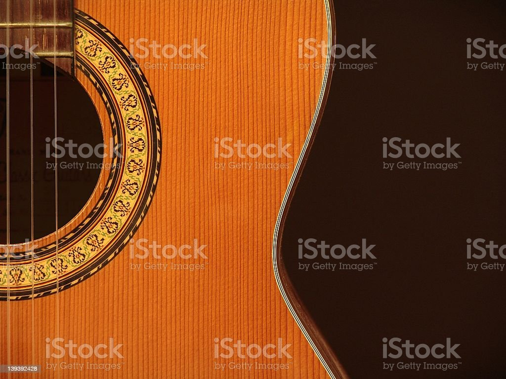 Abstract - Classical Guitar royalty-free stock photo