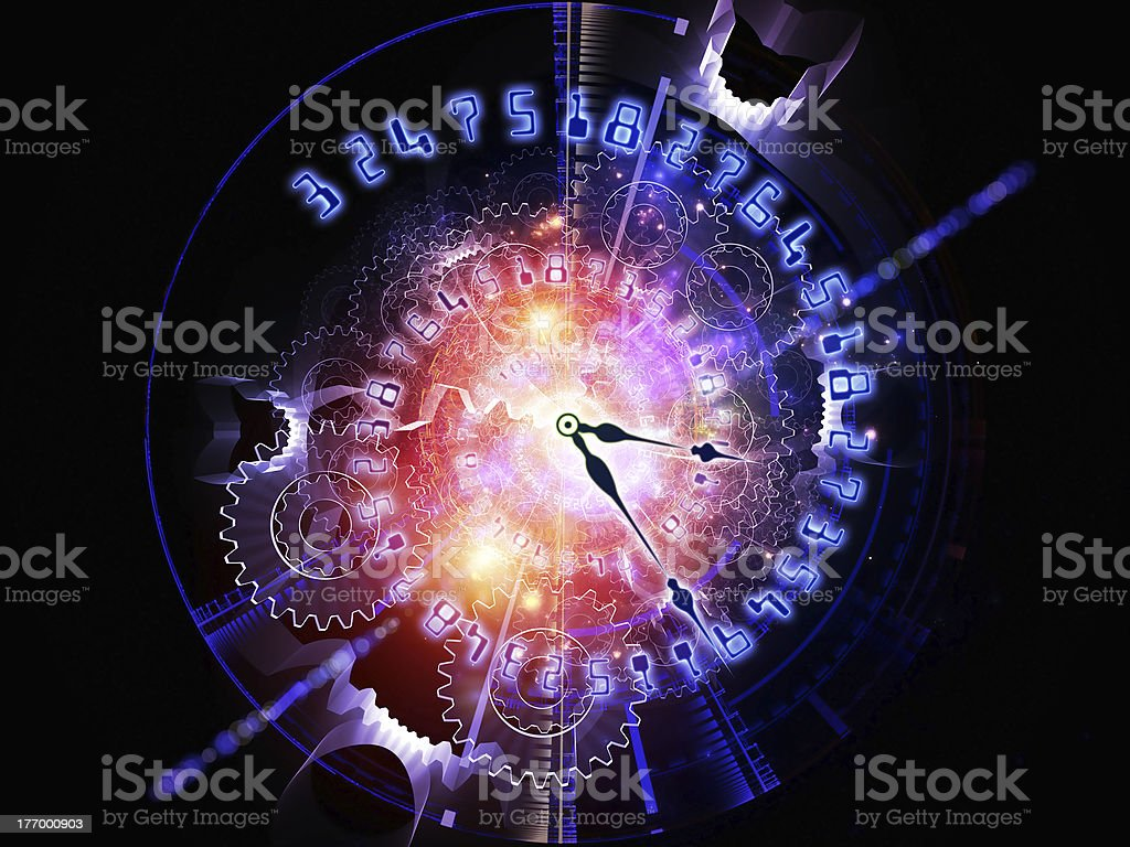 Abstract clock background royalty-free stock photo