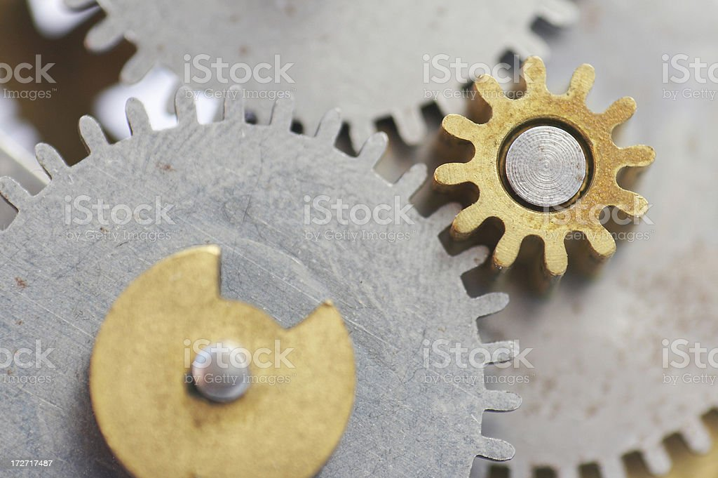 abstract clockwork gears royalty-free stock photo