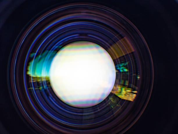 abstracte close-up cameralens - telelens stockfoto's en -beelden