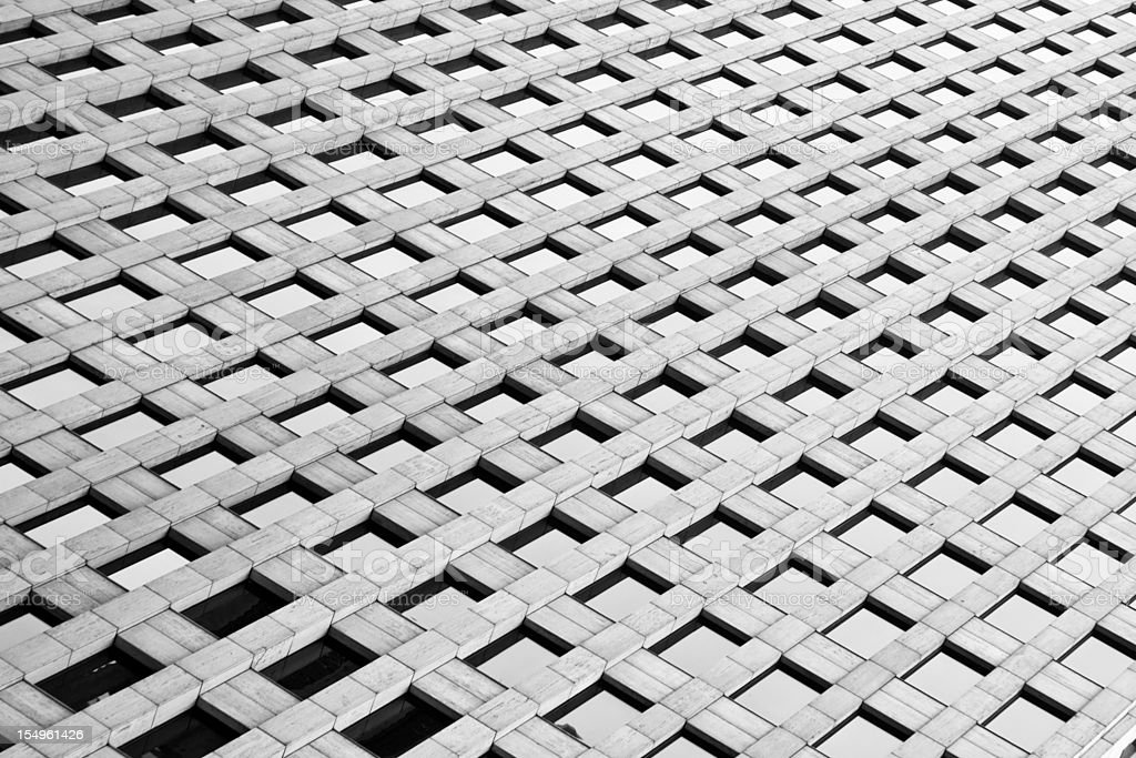 Abstract close-up of a skyscraper royalty-free stock photo