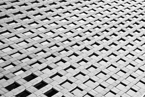 Abstract close-up of a skyscraper stock photo
