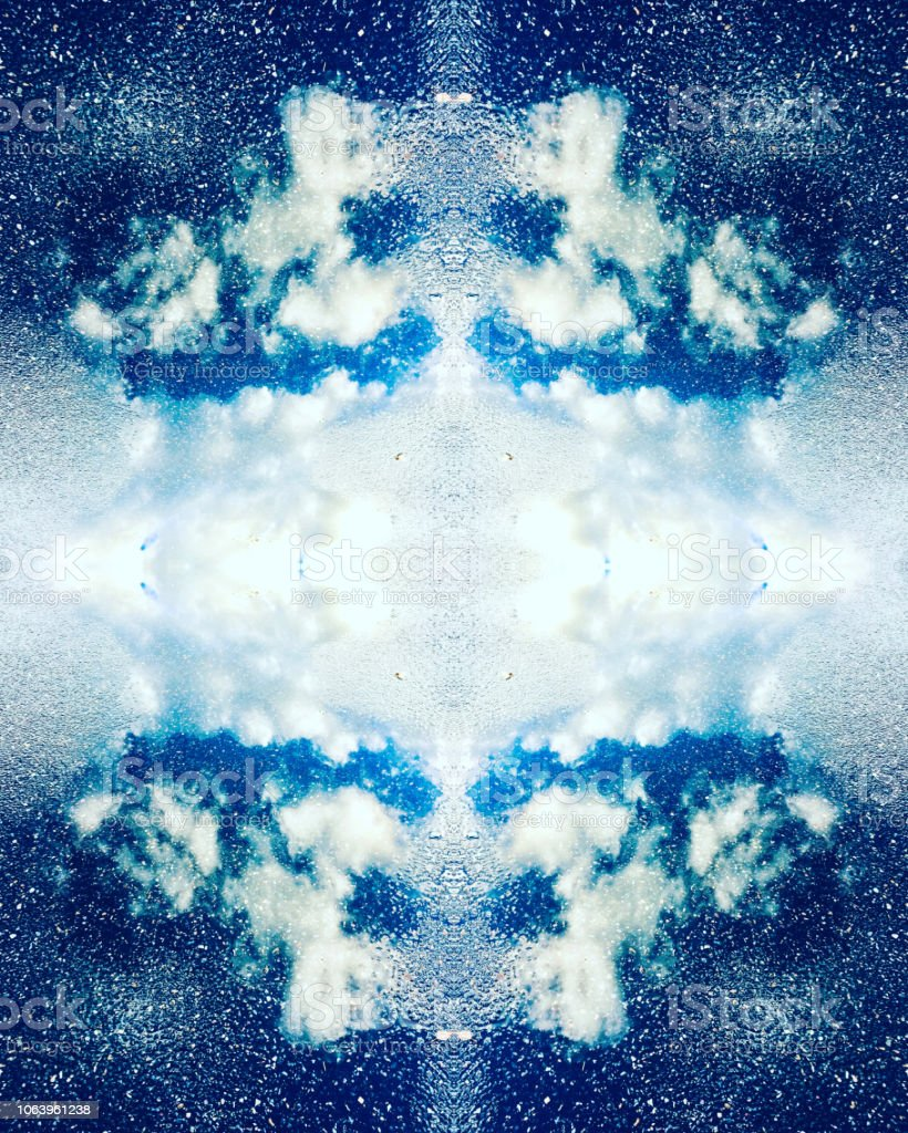 Abstrakte Wolke Kaleidoskop Hintergrund – Foto