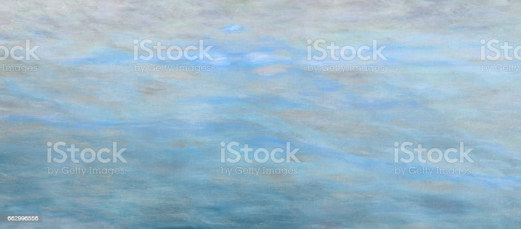 Abstract cloud sky light blue oil paint background with brush stokes on canvas. stock photo
