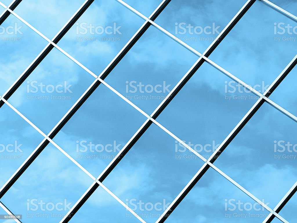 Abstract Clouds - Blue royalty-free stock photo