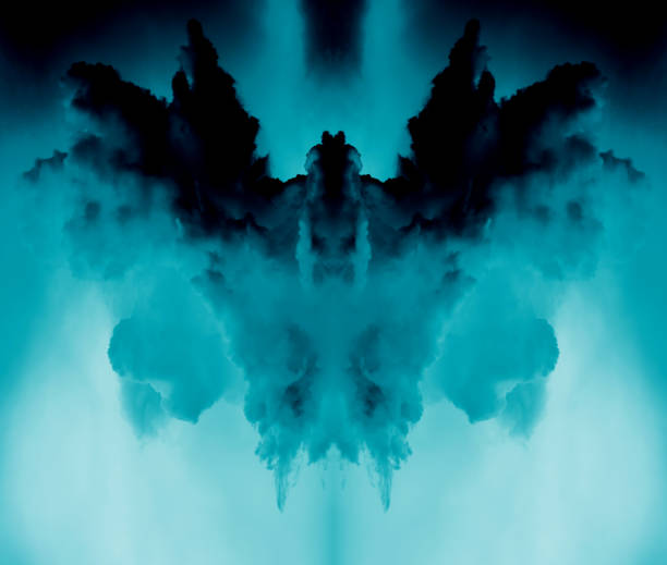 abstract clouds, devil form - demon stock photos and pictures