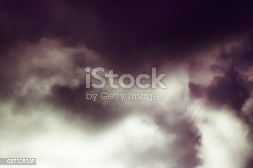 Abstract background of dramatic clouds