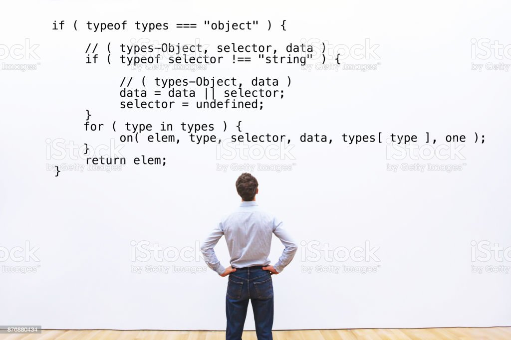 abstract coding concept, learning programming stock photo