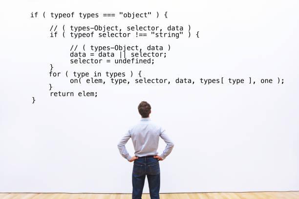 resumen codificación concepto, aprender programación - website design fotografías e imágenes de stock