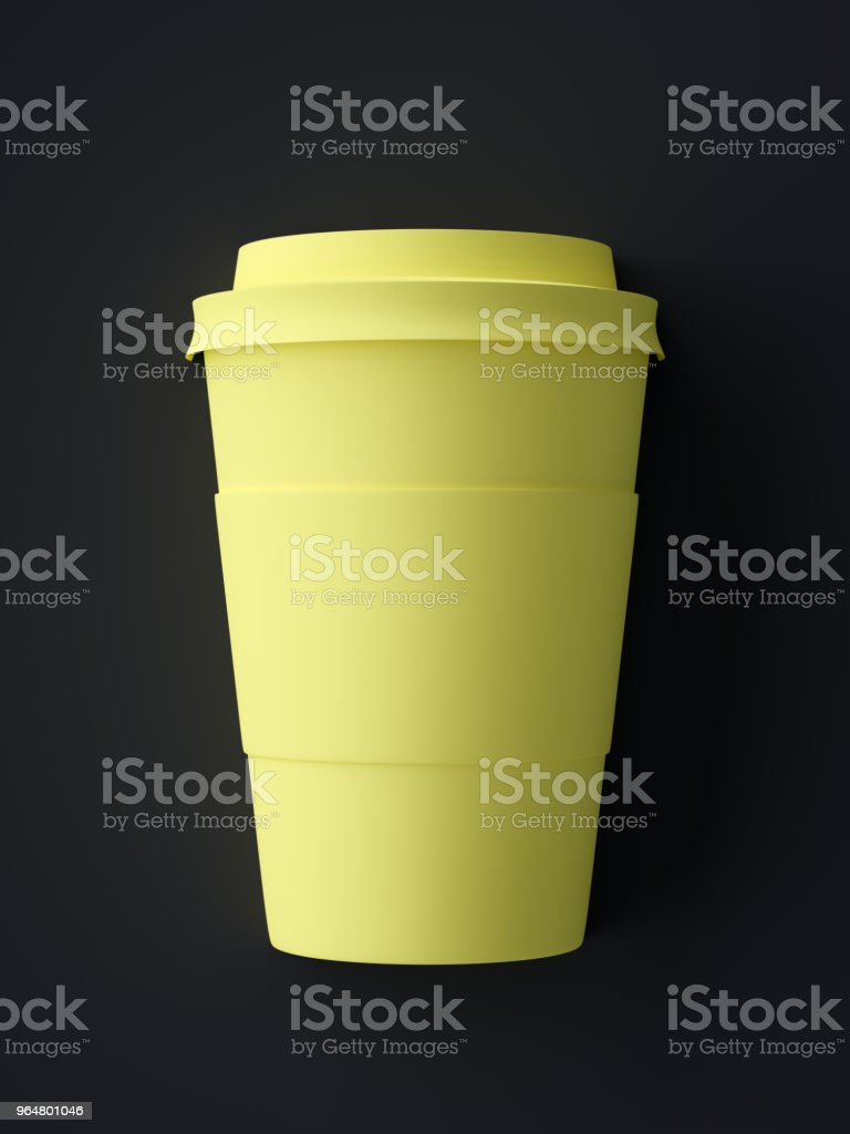 Abstract Coffee Cup Symbol royalty-free stock photo
