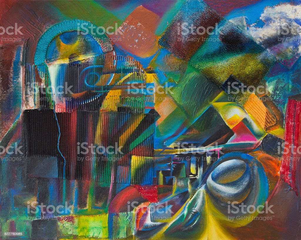Abstract collage stock photo