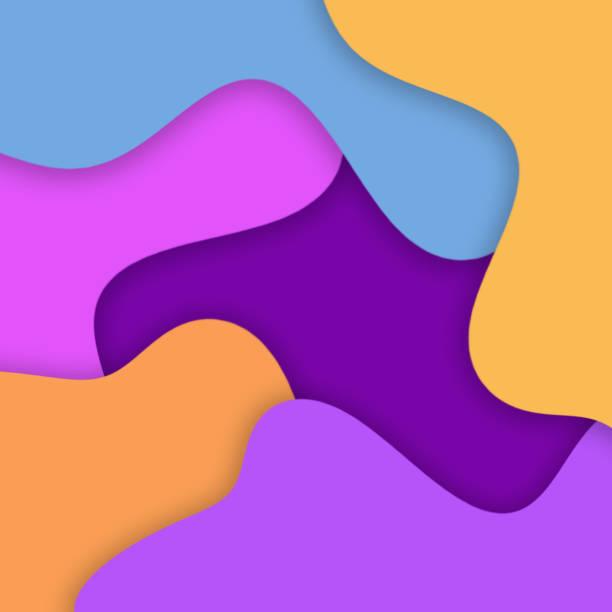 abstrakte farb-blobs-hintergrund mit schatten - flecktarn stock-fotos und bilder