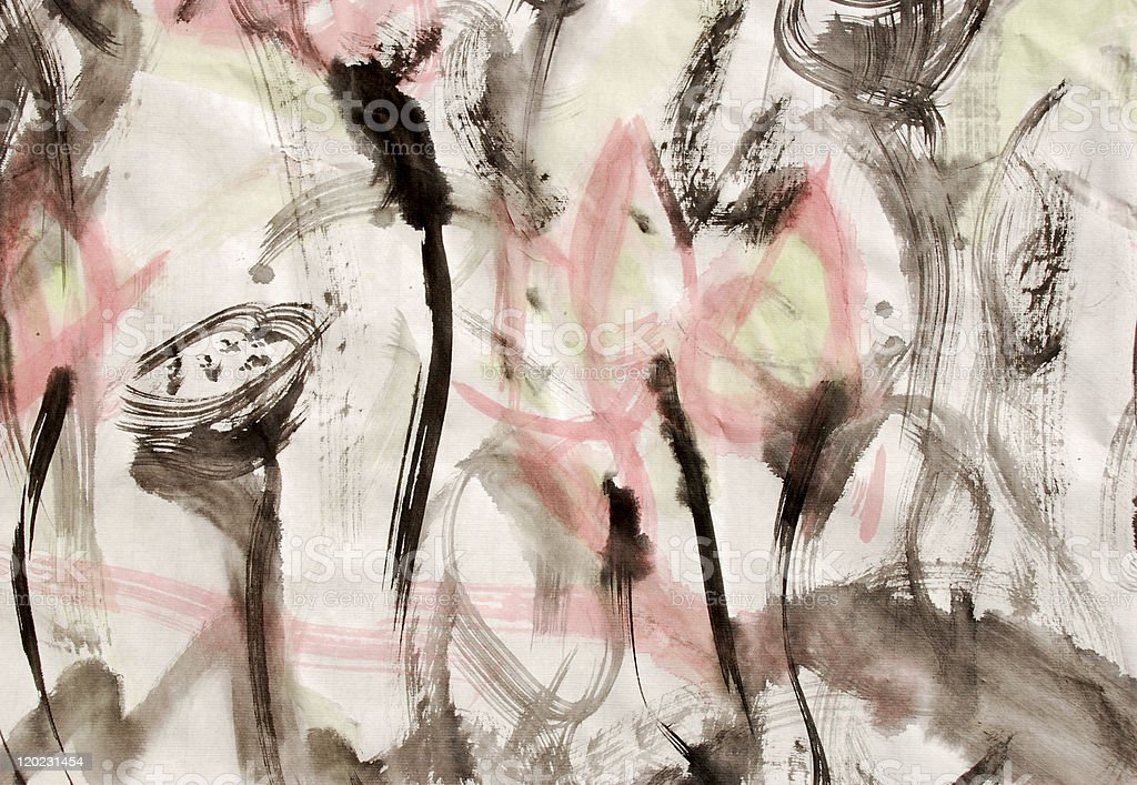 abstract color painting background stock photo