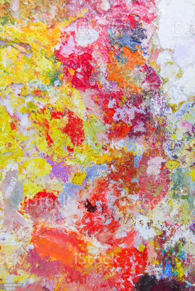 Abstract Color Palette Acrylic Oil Paint Color Texture