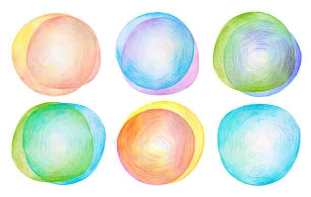 abstrakte farbe bleistift skizzen hintergrund. papierstruktur. kollektion. isoliert auf weiss. - scribble stock-fotos und bilder